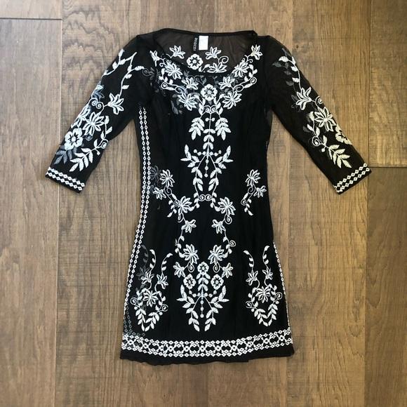 64d7d0103ece0 H&M Dresses | Hm Black Embroidered Dress | Poshmark